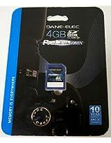Dane Electronics 4 GB SDHC Flash Memory Card, DA-SD1004G-C