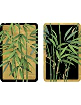 Entertaining with Caspari Double Deck of Bridge Playing Cards, Bamboo Trees, Set of 2
