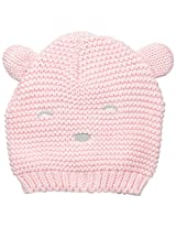 Carters Baby-Girls Bear Layette Cap, Pink, 3-9 Months