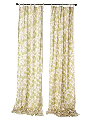 Kerry Cassill Set of 2 Printed Tie Panels (Tan/Lime Watercolor)