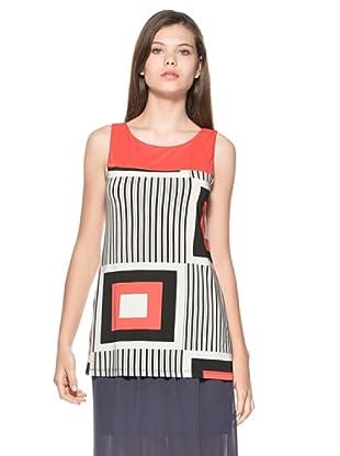 Eccentrica Camiseta Maisie (Rojo/Negro/Blanco)