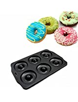 6 Cavities Holes Nonstick Carbon Steel Doughnut Mold Mould Cake Biscuit Pan Mold (1 PC)