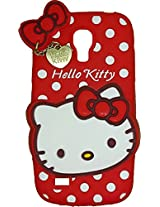 MACC Designer Soft Back Cartoon Cover Case Silicon 3D For Samsung I9190 Galaxy S4 mini - HKWP RED