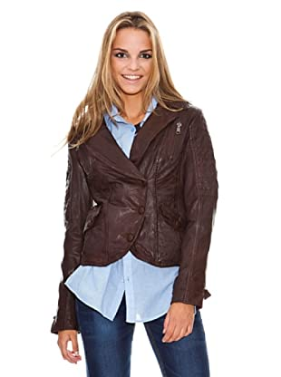 Maze Blazer With Leather Covered Buttons Mujer (Marrón Oscuro)