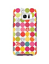 OtterBox SYMMETRY SERIES Case for Samsung Galaxy S7 Edge - Frustration-Free Packaging - GUMBALLS (WHITE/DAMSON PURPLE/GRAPHIC)