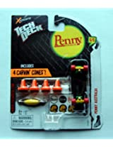 "2012 Tech Deck Penny Australia ""Black"" 6/6 Finger Board with Carvin' Cones"
