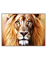 TIA Creation King of Forest Lion Canvas 0199 Print on Cotton Canvas 31inch x 22inch
