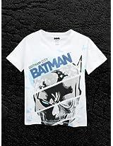 Batman White Half Sleeve Tee
