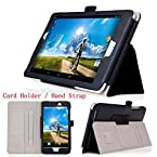 IVSO Slim-Book Stand Cover Case for Acer Iconia A1-830 7.9-Inch Tablet with Card Holder / Hand Strap / Gift Stylus Pen Red/For Acer lconia A1-840