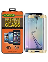 Adoniss Premium Curved Tempered Glass Screen Protector For Samsung Galaxy S6 edge Plus Gold