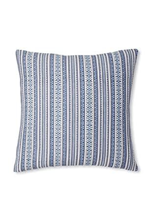 The Pillow Collection Gawanna Stripes Decorative Pillow, Blue, 18