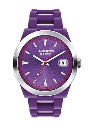 K&BROS 9539-2 / Reloj Unisex  con correa de caucho Morado