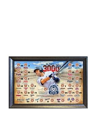 Steiner Sports NBA New York Yankees Derek Jeter Road to 3000 Hits Map