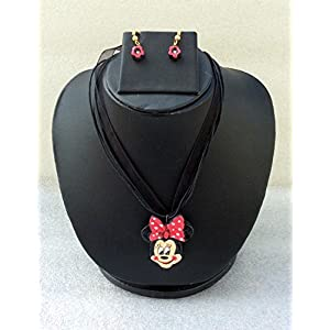 Anikalan Designs Disney Mini Pendant with flower earrings Terracotta Necklace Set