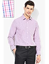 Pink Check Slim Fit Formal Shirt Peter England