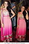Bollywood Replica Neha Dhupia Net Suit In Baby Pink Colour BS-2