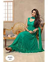 Latest Aqua Green Anarkali Suit