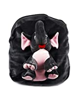 Rushi Enterprise Elephant Cute Teddy Soft Toy School Bag for kids, Travelling Bag, Carry Bag, Picnic Bag, Teddy Bag (Slate Gray)