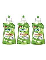 Dettol Kitchen Dish and Slab Gel - 400 ml (Lime Splash, Pack of 3)