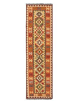 Hand-Woven Izmir Kilim, Dark Copper/Light Gold, 2' 8