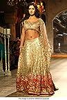 Bollywood Replica Katrina Kaif Net Lehenga In Gold Colour NC449