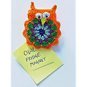 Knotty Nest Orangee Owl Fridge Magnet