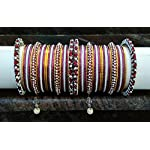 Multi Metal Alloy Crystal Traditional Bangle Set of 12