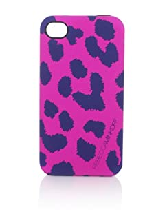 Rebecca Minkoff Women's Cheetah iPhone 4 Case, Fuchsia
