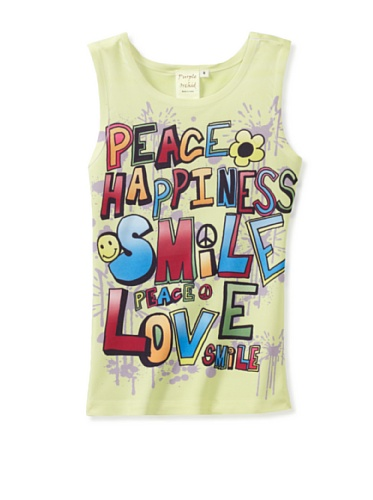 Purple Orchid Girl's Happiness Tank (Yellow)