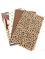 4pcs 25x20cm American Style Cotton Sewing Fabric Dolls Purse Handwork DIY Patchwork Cloths