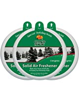Citrus Magic 3-Pack Holiday Fragrance Solid Air Freshener, 8-Ounce, Evergreen