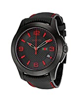 Gucci G Timeless Black Dial And Techno Leather Strap Men'S Watch - Gcya126224