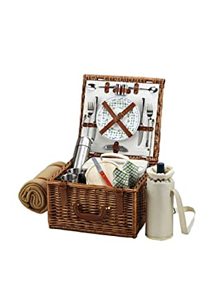 Picnic at Ascot Cheshire Basket for 2 with Coffee Set and Blanket