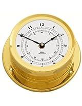 Fischer Instruments 1600U-45 6.5 Brass Nautical Quartz Clock Arabic