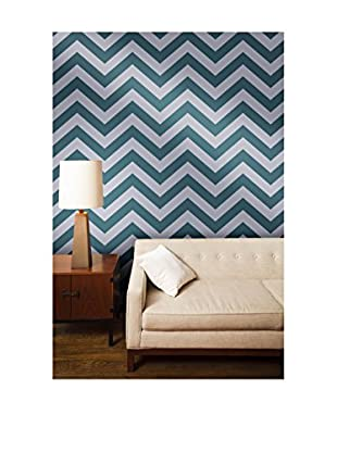 Tempaper Designs Zee Self-Adhesive Temporary Wallpaper, Teal, 20.5
