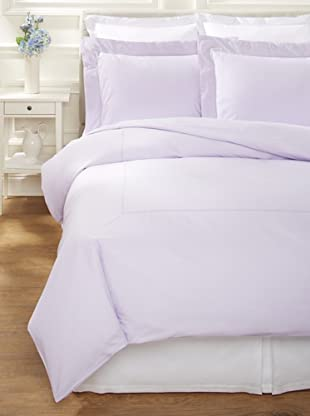 400 TC Percale Duvet Set (Lilac)