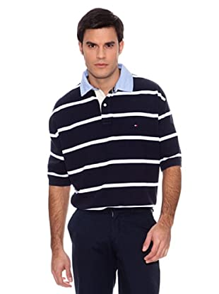 Tommy Hilfiger Polo Ger Flag Collar (Azul / Blanco)