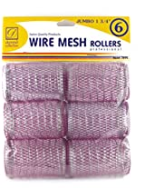 "Donna 1 3/4"" Jumbo Wire Mesh Hair Rollers 6 Ct."