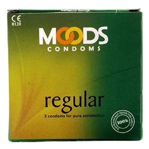 Moods Unflavored 3 piece Regular Condoms