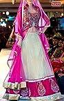 Net lehenga with velvet blouse with Multi Work