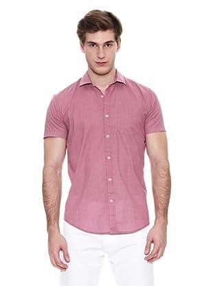 Springfield Camisa Vestir M/C. Sn Micro Print (Fresa)