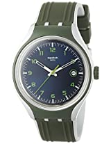 Swatch Men's YES4004 Irony Analog Display Swiss Quartz Green Watch