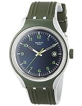 Swatch Men's YES4004 Irony Analog Display Swiss Quartz Green Watch