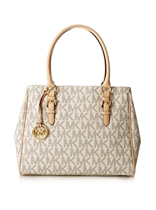 MICHAEL Michael Kors Women's Jet Set Medium Work Tote, Vanilla