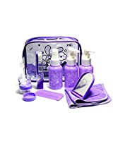 Okayji Okayji 10 in 1 Make up Bottle Set Separated Bottle Spray Bottle Pressed Bottle Comb Napkin Toothbrush for Home Use Travel (Color's Assorted)