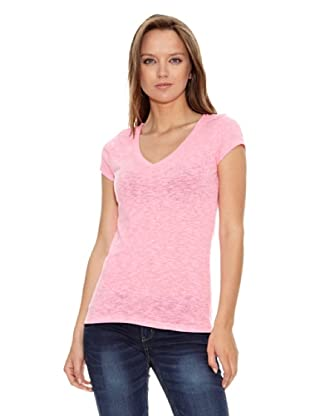 Aeropostale Camiseta Lisa Basic (Rosa)