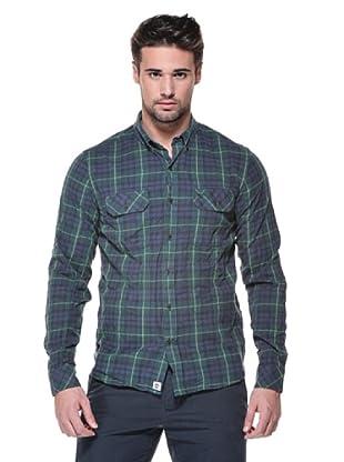 Timberland Camisa Thompson (Azul/Verde)