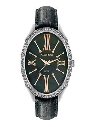 K&BROS 9169-1 / Reloj de Señora  con correa de piel negro