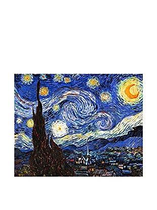 LegendArte Leinwandbild Notte Stellata di Vincent Van Gogh Multicolore