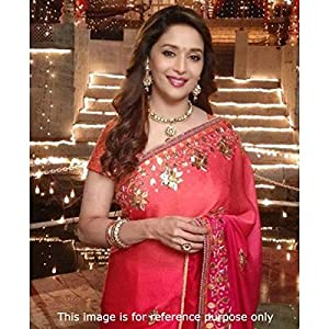 Bollywood Actress Madhuri Dixit In Designer Red Saree